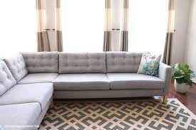 Karlstad Sofa Cover Canada by How To Tuft Button Your Ikea Karlstad Cushions Oh Everything