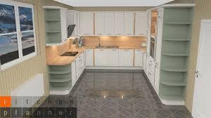 küchenplanung klassische weiße u küche mit farbakzent