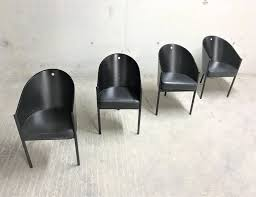100 Phillipe Stark Set Of 4 Vintage Costes Chairs By Philippe Starck For Driade 1980s