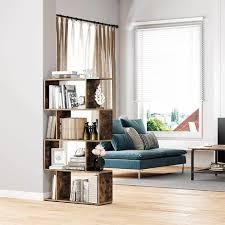 vasagle bücherregal standregal würfelregal freistehendes regal raumteiler 4 fächer für büro wohnzimmer schlafzimmer dekorativ vintage
