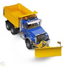 100 Kids Dump Truck Bruder With Snow Plow Blade Granite MACK
