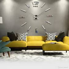 Acrylic 3D DIY Mirror Surface Wall Sticker Clock Wall Paper Murals Stickers Home Room Decoration Modern Art Decals