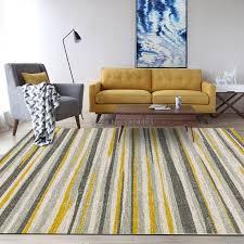 nordic stil teppiche grau gelb geometrische gestreiften bereich teppiche wohnzimmer sofa nicht slip boden matten kinder schlafzimmer spielen zelt