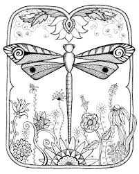 Dragonfly Coloring Page Best Pages Images On Dragon Fly Simple