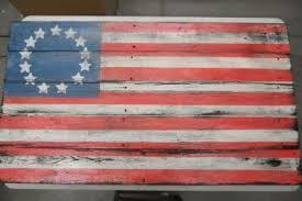 Rustic American Flag Wallpaper Wall