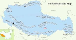 mountain ranges of himalayas tibet mountains mountain ranges and himalayas world map