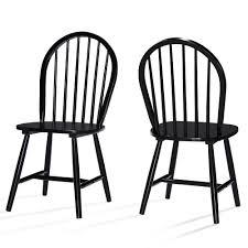 Set Of 2 Declan Farmhouse High Back Dining Chair Black ...