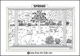 Spring Colouring Page Thumbnail Image
