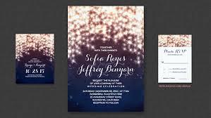 String Lights Glam Wedding Invitations
