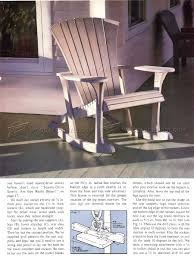 Folding Adirondack Chair Woodworking Plans by Adirondack Rocking Chair Plans U2022 Woodarchivist