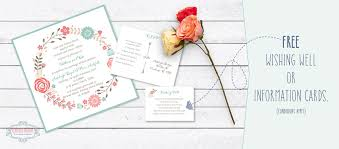 Custom Designed Wedding Invitations Free Wishing Well Cards