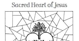 Look To Him And Be Radiant Sacred Heart Of Jesus Coloring Pages