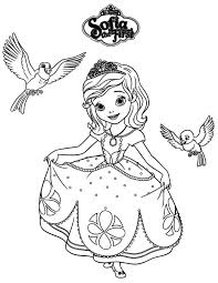 Princess Sofia And Robin Mia In The First Coloring Page
