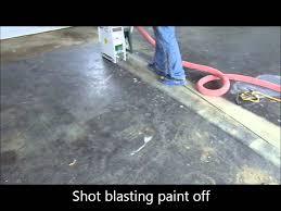 removing paint on garage floor epoxy coating resurfacing