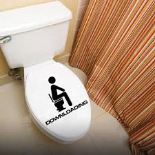 Funny Bathroom Door Art by Aliexpress Com Buy Downloading Individual Toilet Sticker Wall