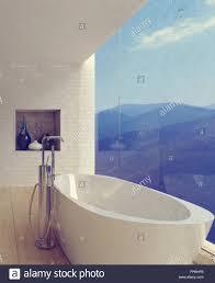 große porzellan badewanne in geräumigen luxuriösen