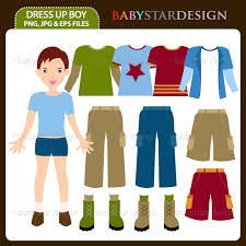 Boy Clothes Shopping Clipart
