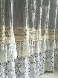Walmart Lace Kitchen Curtains by Walmart Curtains Kitchen Lace Ruffle Shower Curtain Grey Chenille