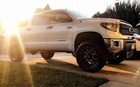"""My New Truck 2018 Toyota Tundra 4.5"""" BDS Lift, 20"""" Fuel Maverick ... Trd Wheels Media Gallery Toyota Tacoma Revolver D525 Fuel Offroad Questions How Do I Add A 6 Inch Lift On Truck And Wheel Offset 1994 Pickup Aggressive 1 Outside Fender Leveling 2011 With 4runner Rims World Truck Serves Houston Spring Fred Haas Black Rhino Armory Desert Sand Rims Custom Rim Tire Packages 2cvetundraoffroadtoyotafest 2crave"""