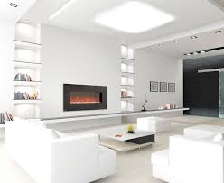 Electric Fireplaces Contemporary Living Room