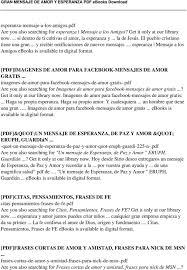 GRAN MENSAJE DE AMOR Y ESPERANZA PDF