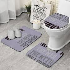 badezimmer vorleger matten 3er set teppich toilette