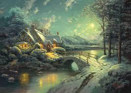 Thomas Kinkade Christmas Tree by Bridges