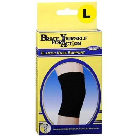 Bell Horn Elastic Knee Support - Black, Large