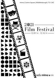 University Project For A Made Up North East Film Festival 2021 Design Student Adam Hailes Black And White Poster