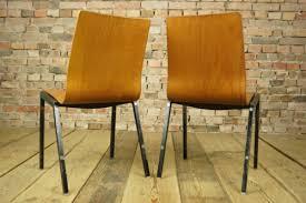 60er vintage 4x esszimmer stuhl industriedesign stapelstuhl