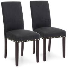 Amazon.com - Best Choice Products Set Of 2 Upholstered High ... French Highback Ding Chairs Beautifully Designed Louis Xv High Back Ding Chairs Beech Wood Late 19th Century Sku 9622 Whtear Reproduction Fniture Arden Chair Skyline John Lewis Partners Tropez Set Of Six Mid Modern Walnut Dramatic 5 Kamron Tufted Upholstered Faye Grey Faux Leather Pair With Chrome Legs Lssbought Fabric 2 Gray