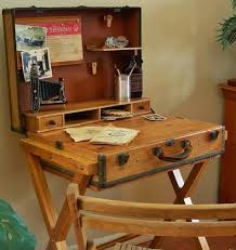 bureau recup idée déco 100 récup de vieilles valises transformées