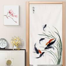 chinesischen stil lotus vorhang wohnzimmer dekorative vorhang schlafzimmer küche partition vorhang hängen vorhang feng shui vorhang