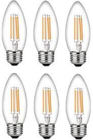 thinklux led filament candelabra bulb 4 watt 40 watt equal