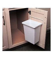 White Door Mounted Trash Bin Waste Can Garbage Kitchen Cabinet Wastebasket Clean In Home Garden Household Supplies Cleaning Cans Wastebaskets