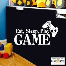 Eat Sleep Play PS3 PS4 Game Quote Wall