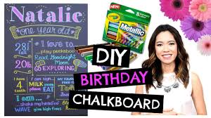 DIY 1st BIRTHDAY Chalkboard Easy Cheap