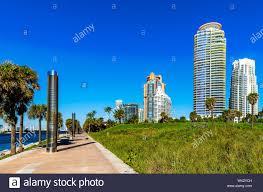 100 Miami Modern South Beach Modern Building Florida Stock Photo