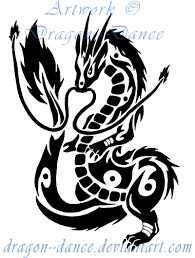 DeviantArt More Like Tribal Flaming Dragon Tattoo Commission By