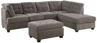 Poundex 3pc Sectional Sofa Set by Living Room 3 Piece Sectional Sofa With Chaise Charcoal