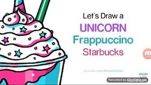 How To Draw A Unicorn Frappuccino Starbucks Easy And Cute