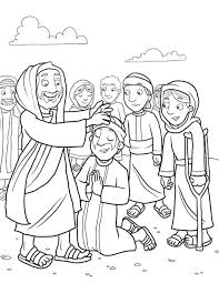 Matthew Mark Luke Jesus Cleansed A Leper Healed Coloring Page
