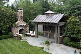 outdoor fireplace plans free Patio Traditional with backyard