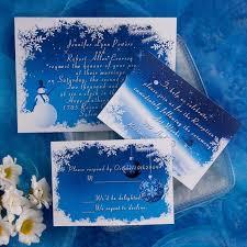 Unique Blue And White Snowflake Winter Wedding Invitation Kits EWI090 As Low 094