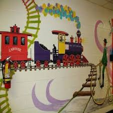 Preschool Classroom Wall Decorations Art Ideas Design Elementary Classic Themes Stickers Trains Surprising Remarkable