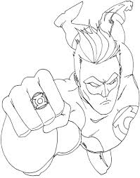 Green Lantern Coloring Page Free Printable Pages For Kids Images