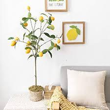 de lhkave künstliche pflanzen baum zitronenbaum