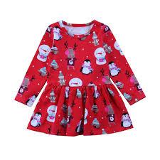 Children Clothing Christmas Dress Kids Baby Girls Party Wedding Tops
