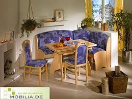 eckbankgruppe blau möbel eckbank holz 2 stühle esszimmer