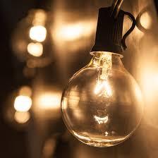 patio lights clear globe string lights g50 bulbs on black wire